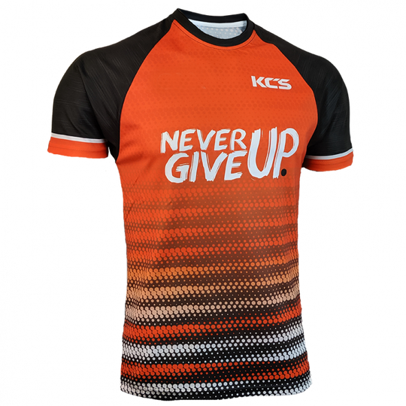 KCS Never Give Up Jersey (Orange / Black)