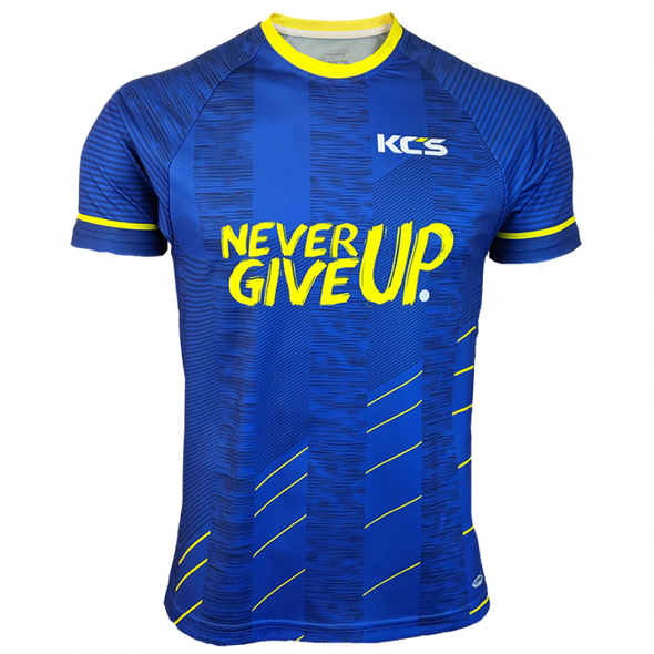 KCS Never Give Up Jersey (Royal / Flo Yellow)