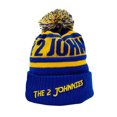 The 2 Johnnies Wooly Hat (Blue & Yellow)