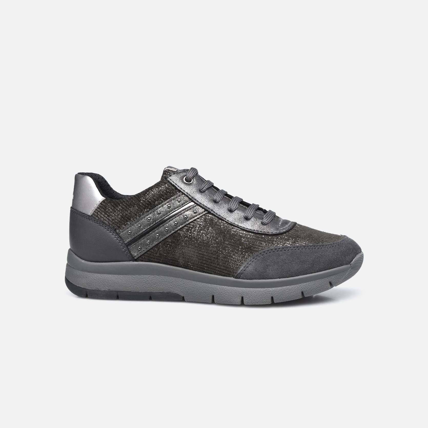Baskets Geox gris anthracite CALLYN Baskets Geox