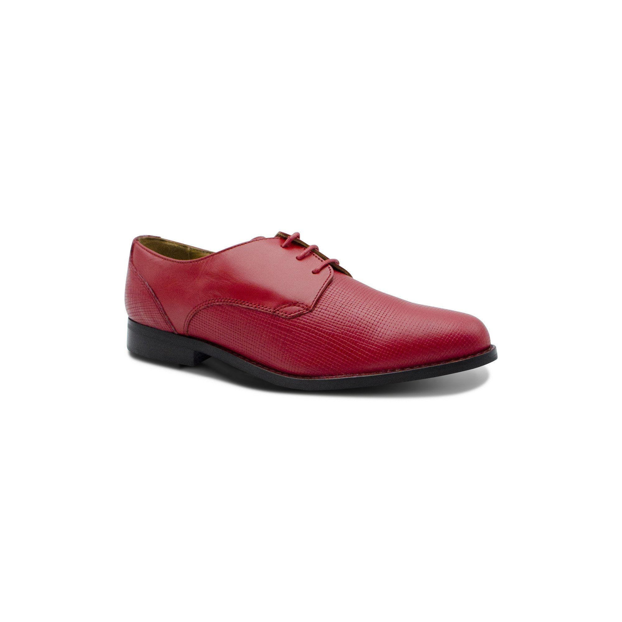 Derbies cuir croisé rouge English Classics Mocassins English Classics