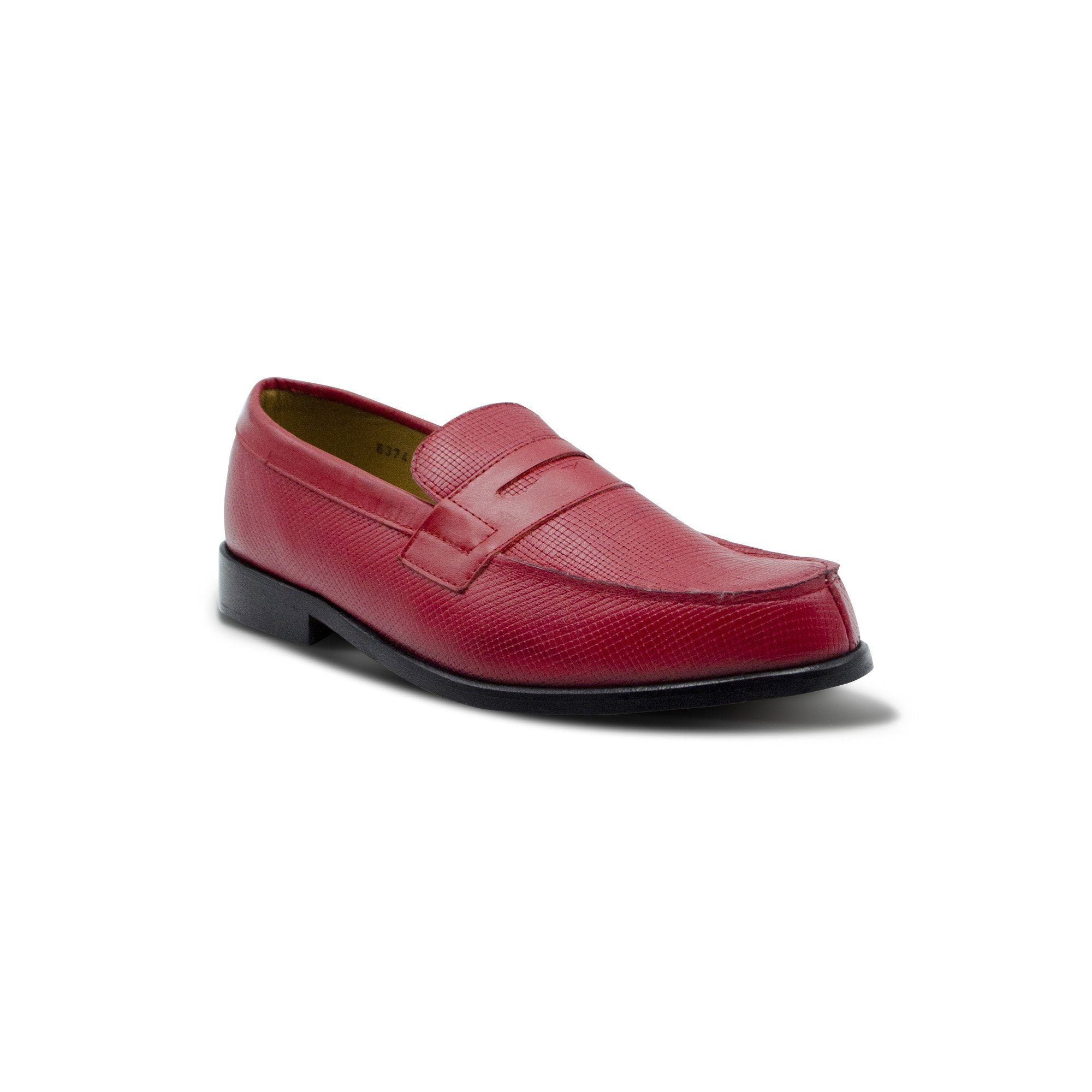 Mocassin College cuir serpent rouge English Classics Mocassins English Classics
