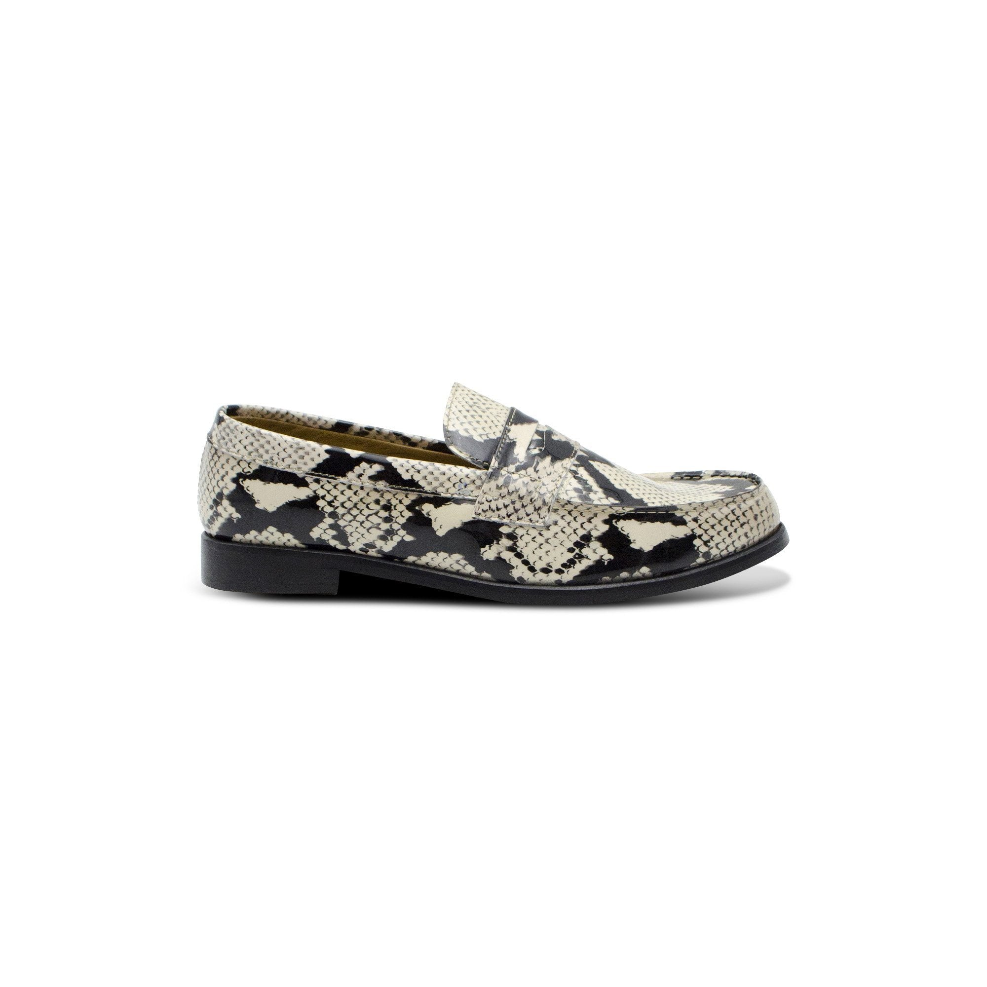 Mocassin College cuir vernis serpent English Classics Mocassins English Classics