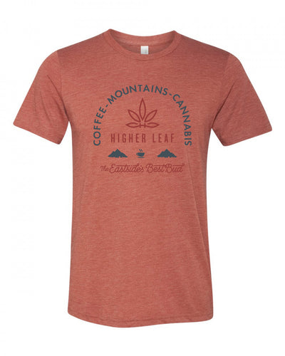 Coffee Mountains Cannabis Unisex Tee