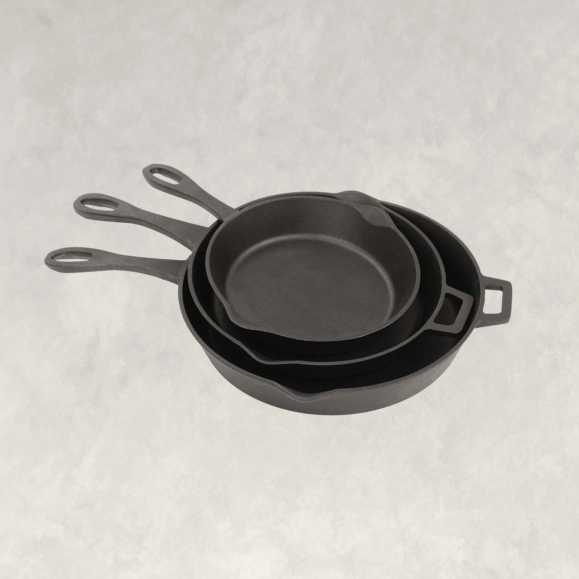 10, 12, and 14-in Cast Iron Skillet Set