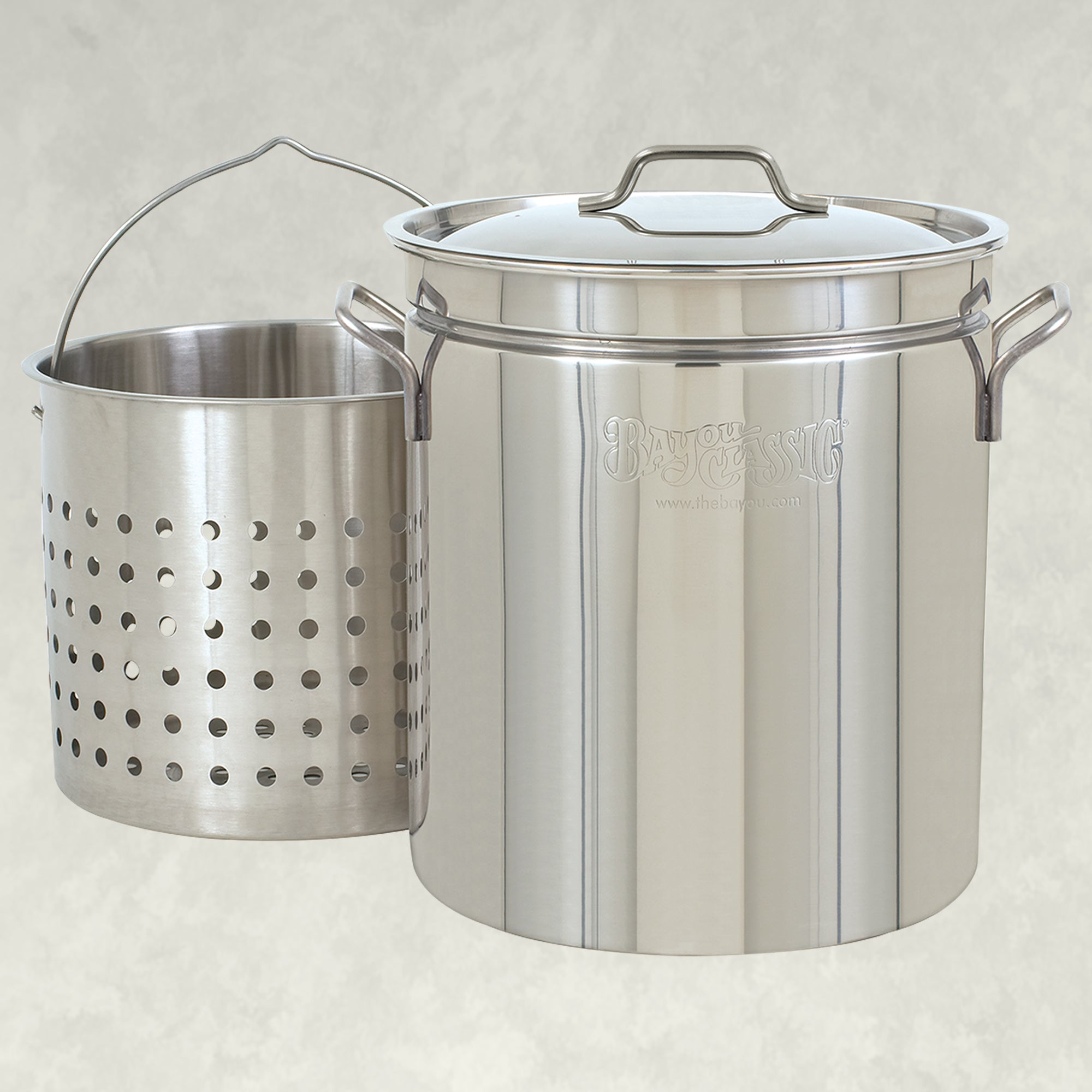 62-qt Stainless Stockpot with Basket