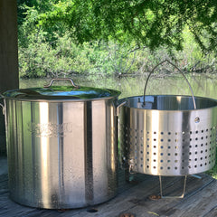 Stainless Bayou® Boiler with Elevated Steam Basket