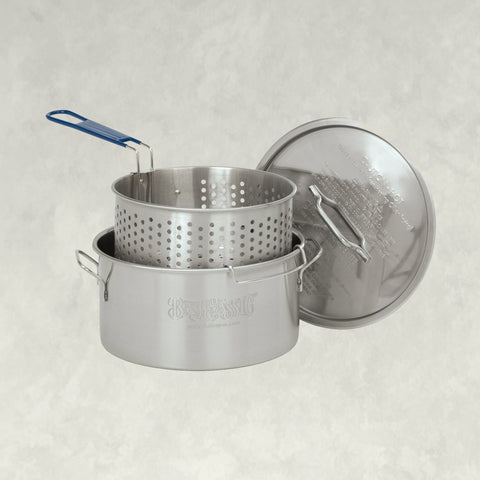 14-qt Stainless Fry Pot