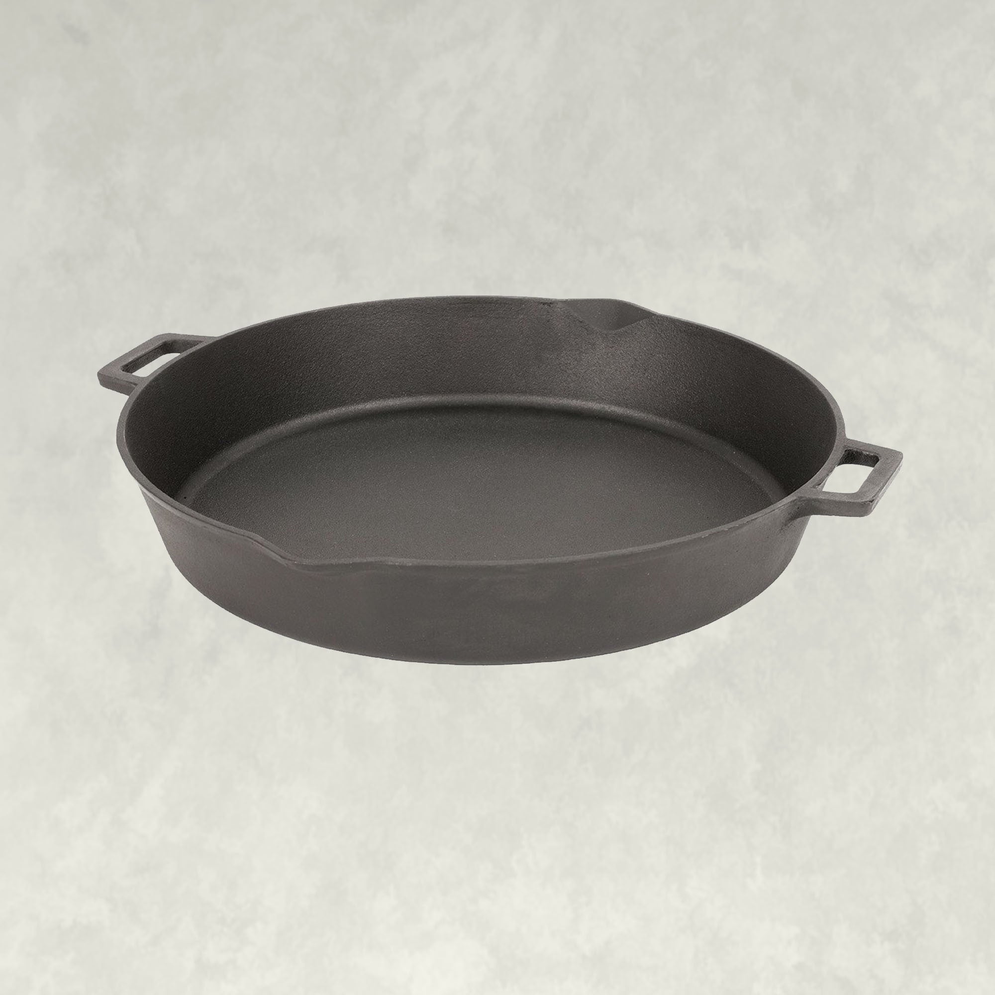 16-in Cast Iron Double-Handled Skillet with/Pour Spouts