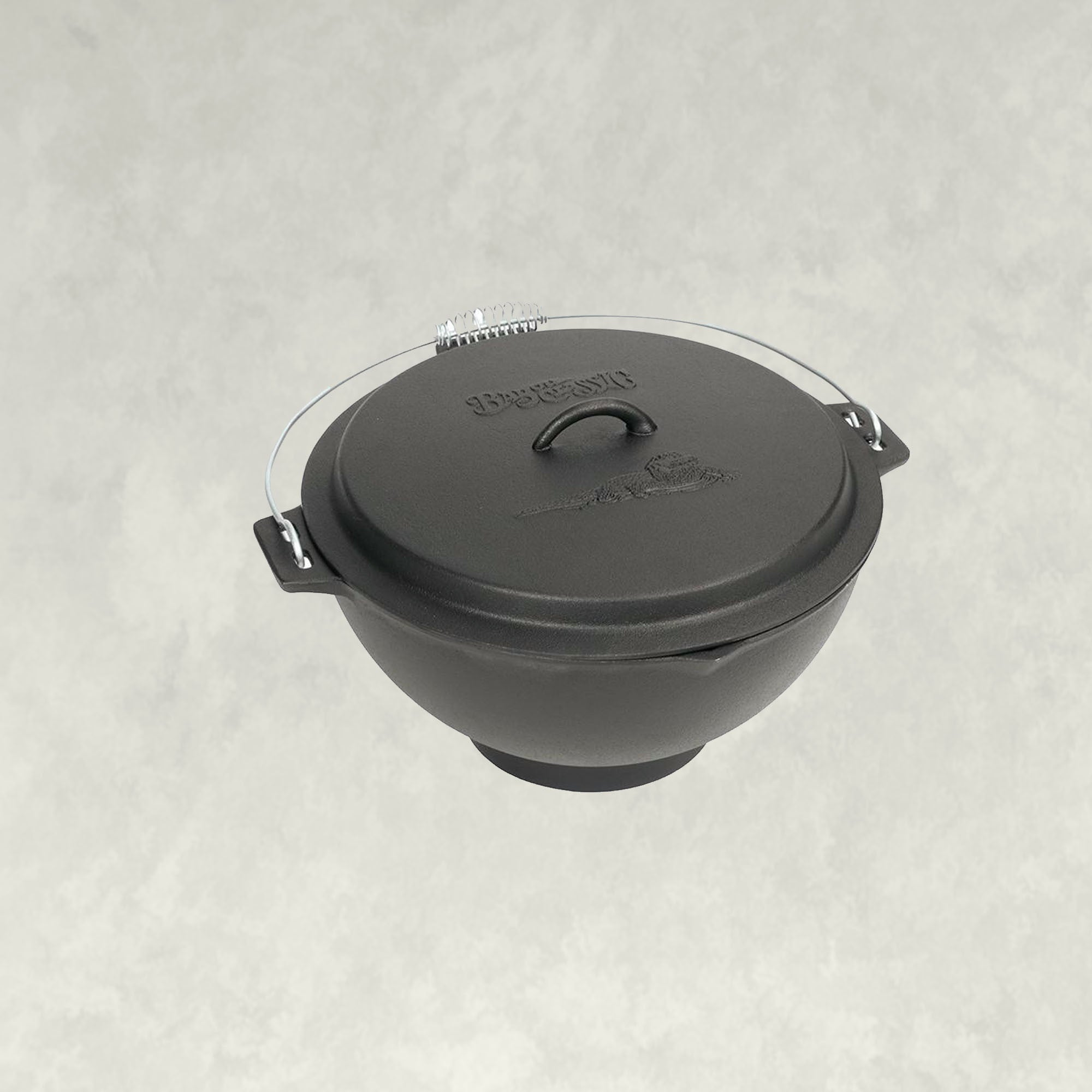 3-gal Cast Iron Jambalaya Kettle with Lid