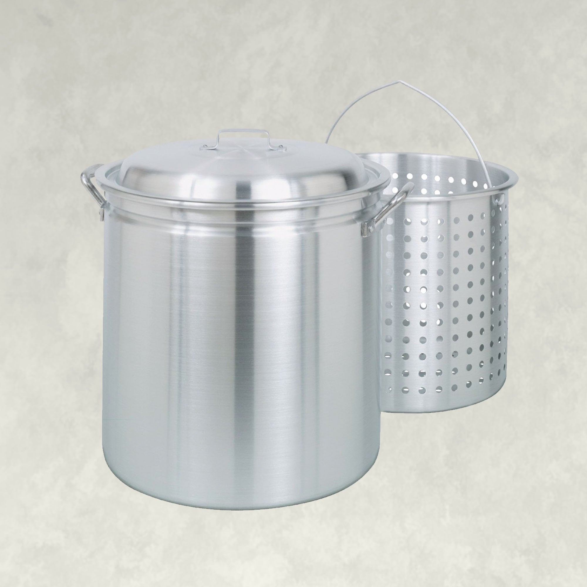 42-qt Stockpot with Basket