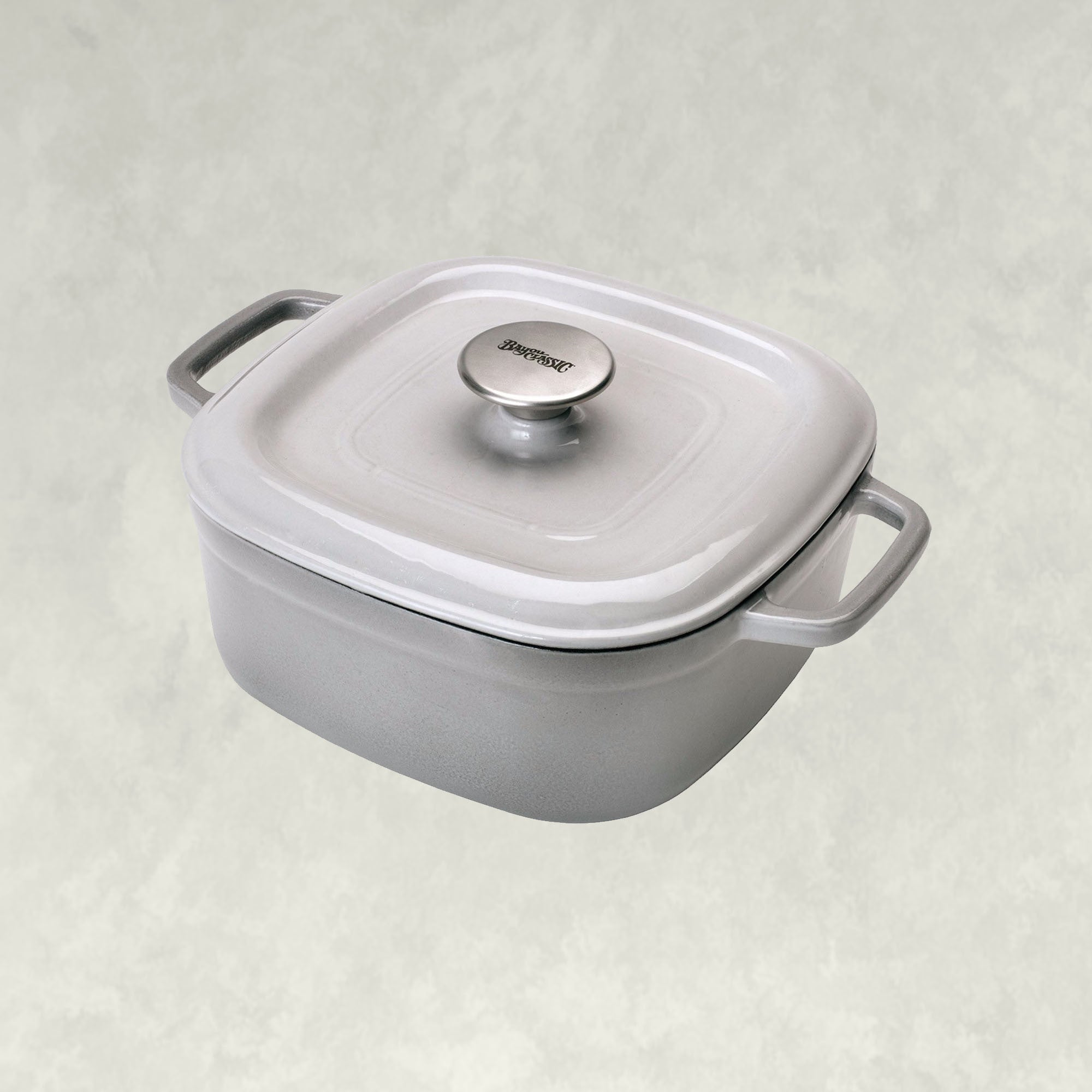 4-qt Enameled Covered Casserole, Weathered Grey