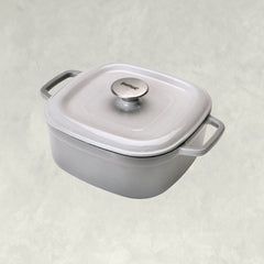 Weathered Grey 4-qt Enameled Covered Casserole