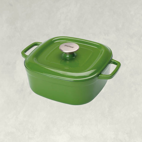 Cypress Green 4-qt Enameled Covered Casserole