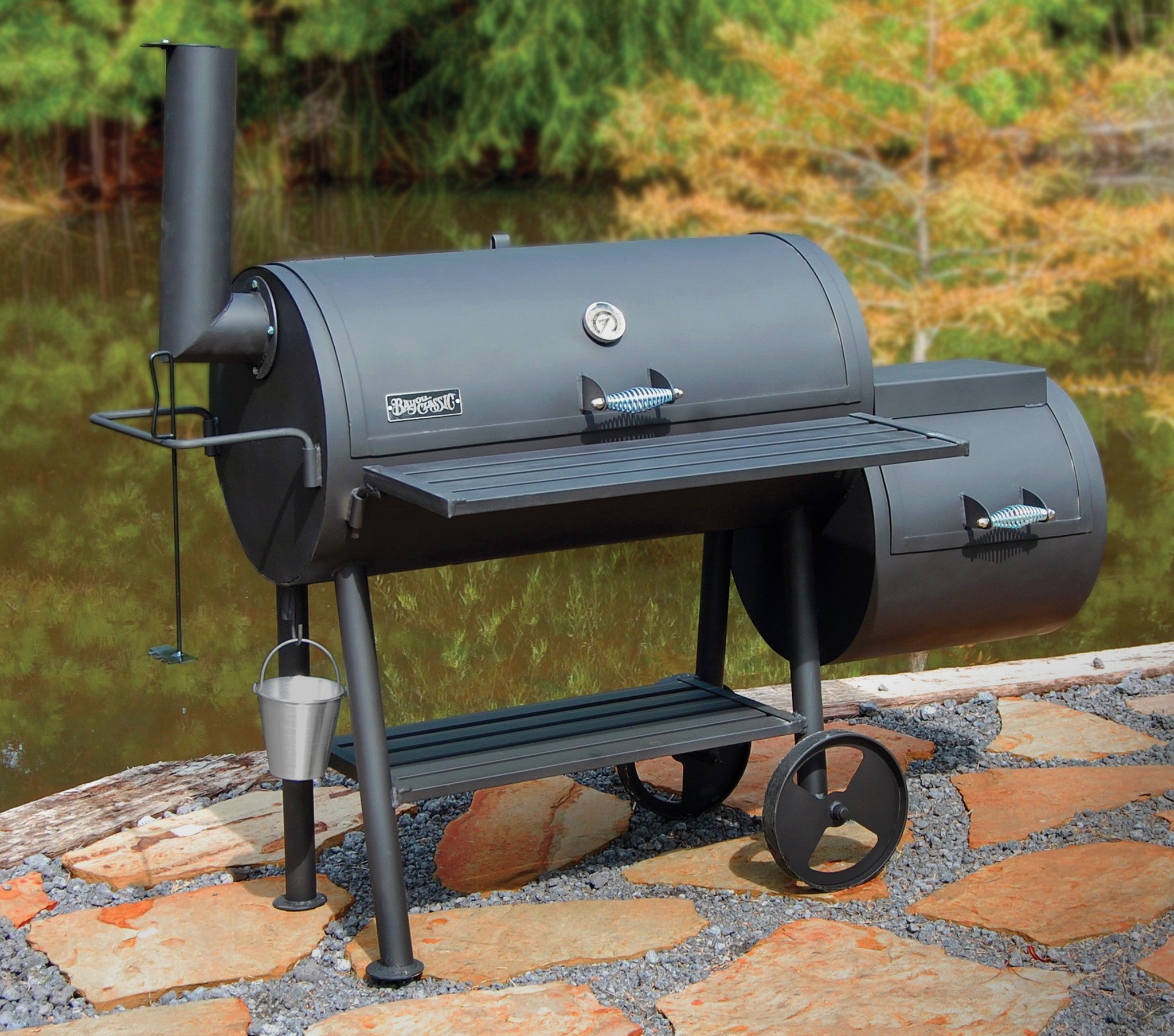Bayou® 36-in Heavy-Gauge Steel Smoker Grill