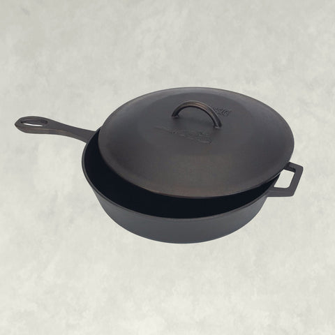 5-qt Covered Cast Iron Skillet