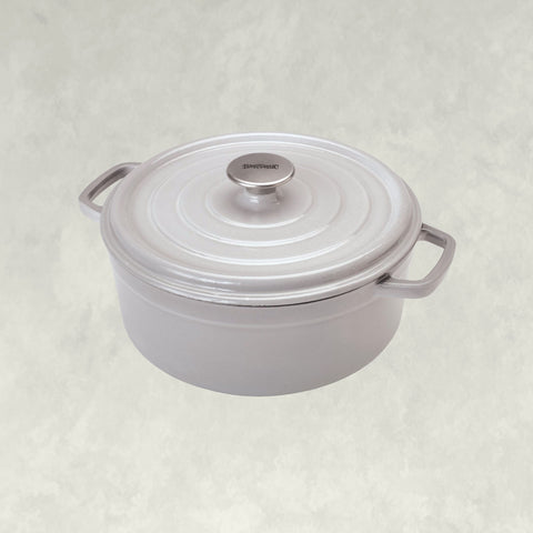 5-qt Enameled Dutch Oven, weathered grey