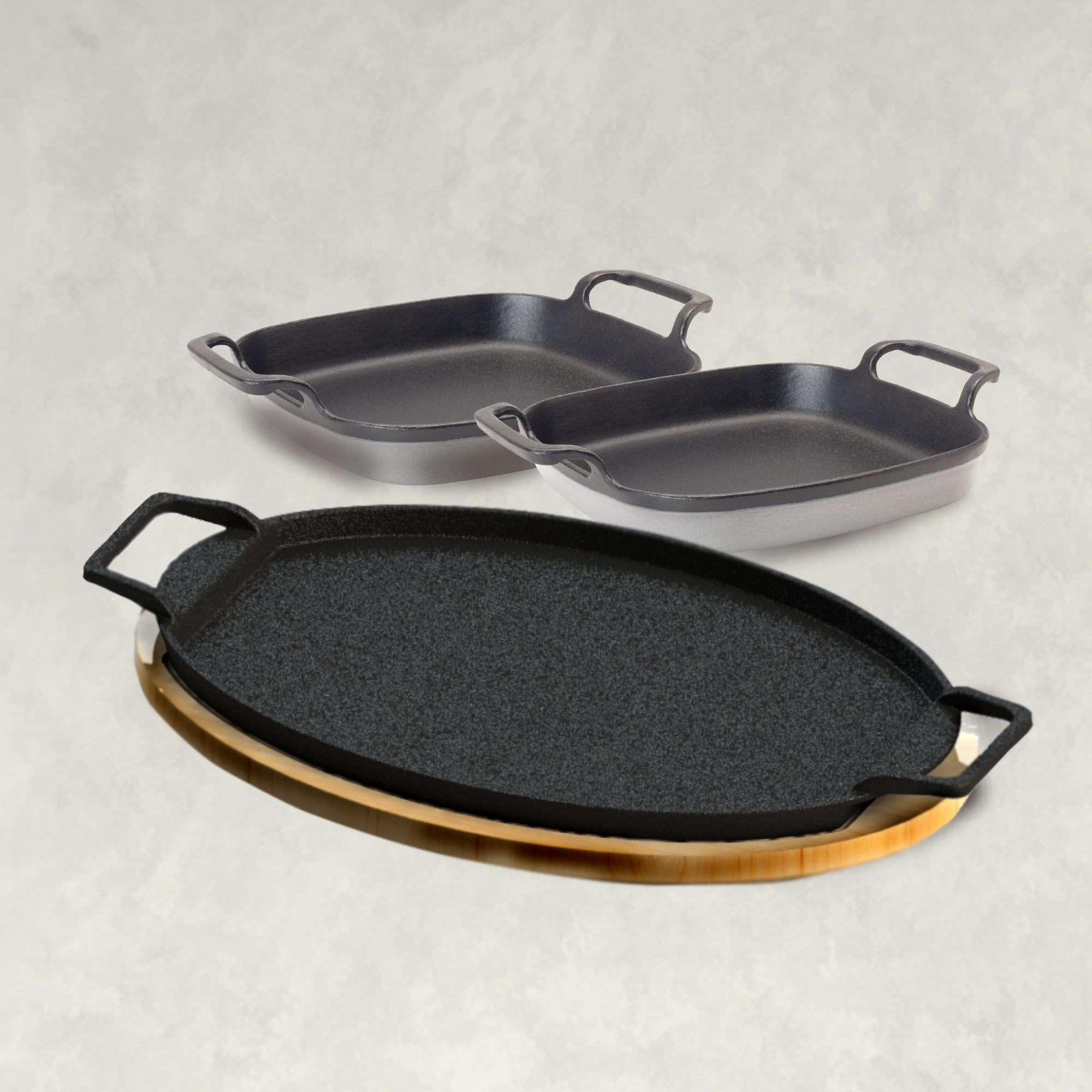 Fiesta Fajita Pan Set, weathered gray
