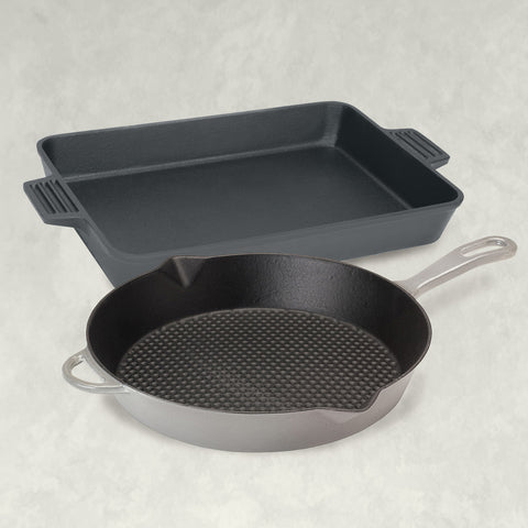 Cast Iron Kitchen Set, weathered gray