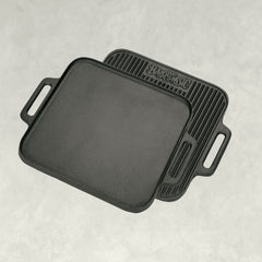 14-in Cast Iron Reversible Square Griddle