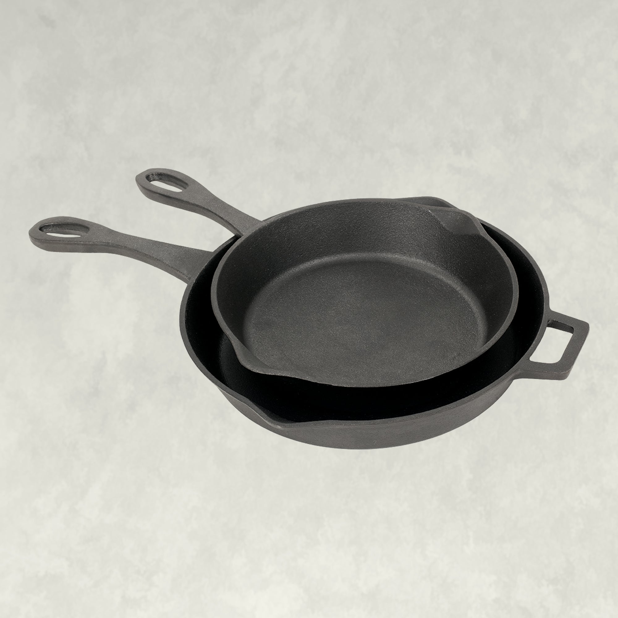 10 and 12-in Cast Iron Skillet Set