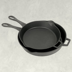 12-in and 14-in Cast Iron Skillet Set