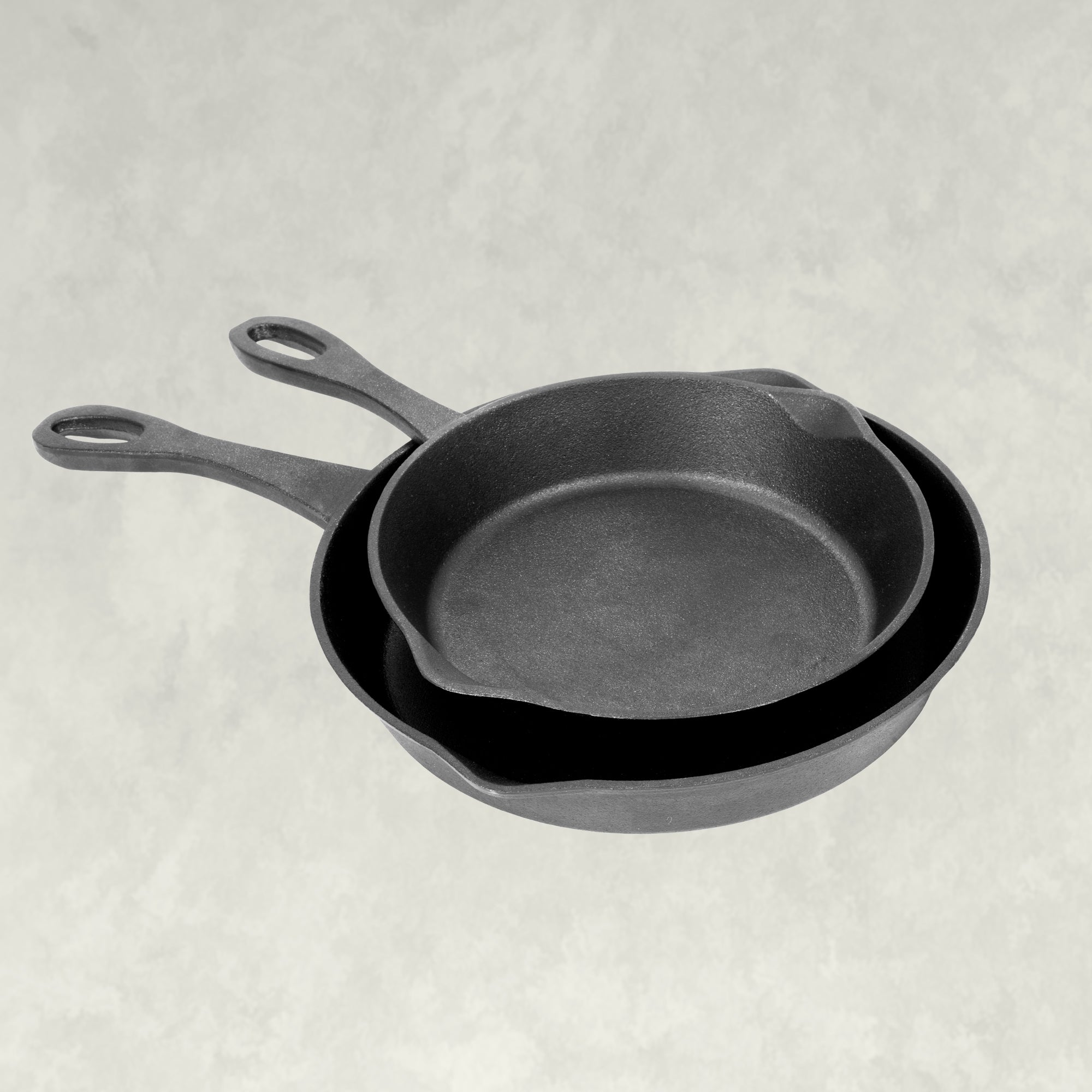 8 and 10-in Cast Iron Skillet Set