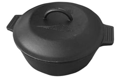 4-qt Cast Iron Covered Pot