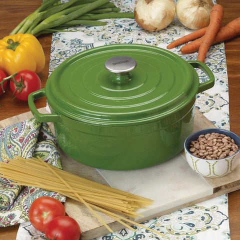 5-qt Enameled Dutch Oven, cypress green