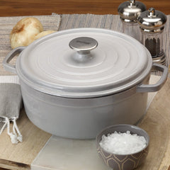 Weathered Grey 5-qt Enameled Dutch Oven