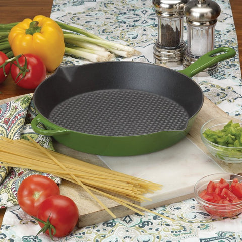Cypress Green 10.5-in Enameled Skillet