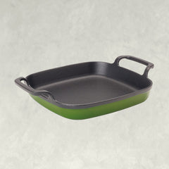 Cypress Green 8.5-in Enameled Baking Dish