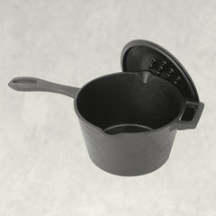 2.5-qt Covered Cast Iron Sauce Pan