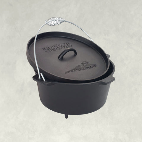 8-qt Cast Iron Camp Dutch Oven with Feet