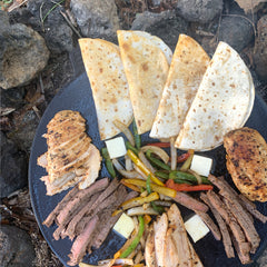 Single Fajita Pan Set, weathered gray