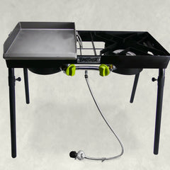 Dual Patio Camp Stove with Single Griddle