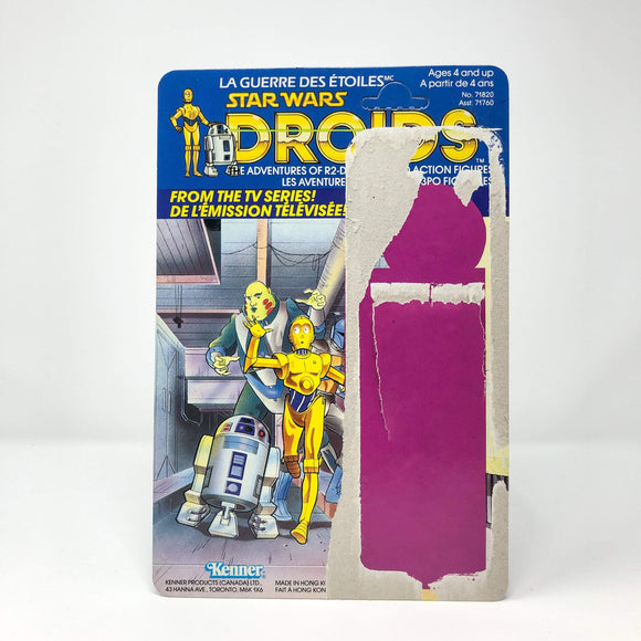 Vintage 4th Moon Toys Star Wars Droids Canadian Cardback (12-back)
