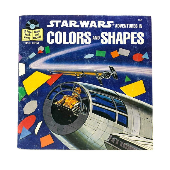 Vintage Buena Vista Star Wars Non-Toy Colors and Shapes Star Wars Read-A-Long Book (1979)