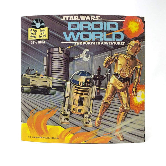 Vintage Buena Vista Star Wars Non-Toy Droid World Read-A-Long Book (1983)