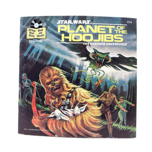 Vintage Buena Vista Star Wars Non-Toy Planet of the Hoojibs Read-A-Long Book (1983)