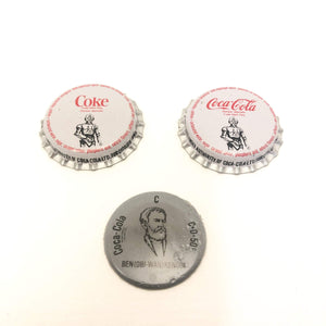 Vintage Coca-Cola Star Wars Non-Toy Ben Kenobi Coca-Cola Canada Bottle Cap Set Peeled