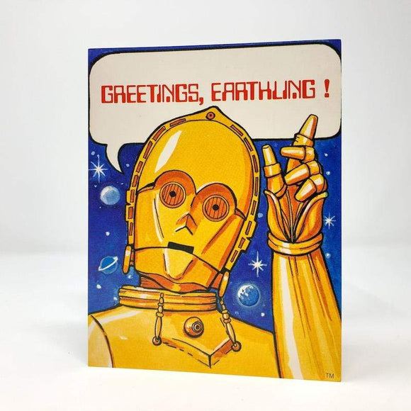 Vintage Drawing Board Star Wars Non-Toy C-3PO Greeting Card w/ Envelope