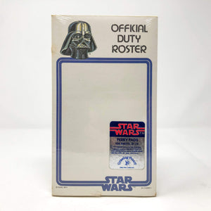 "Vintage Drawing Board Star Wars Non-Toy Darth Vader ""Official Duty Roster"" Perky Pad - Sealed (1977)"