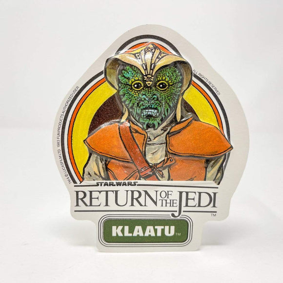 Vintage Fun Products Star Wars Non-Toy Klaatu Vacformed Sticker (UK 1983)
