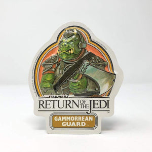 Vintage Fun Products Star Wars Non-Toy Vintage Gammorrean Guard Vacformed Sticker (UK 1983)