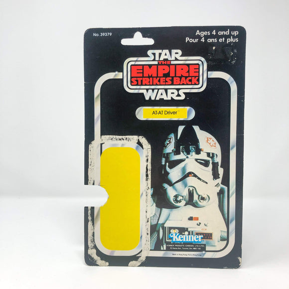 Vintage Kenner Canada Star Wars Cardback AT-AT Driver Canadian ESB Cardback (41-back)