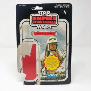 Vintage Kenner Canada Star Wars Cardback Rebel Commander Canadian ESB Cardback (41-back) - cut pop