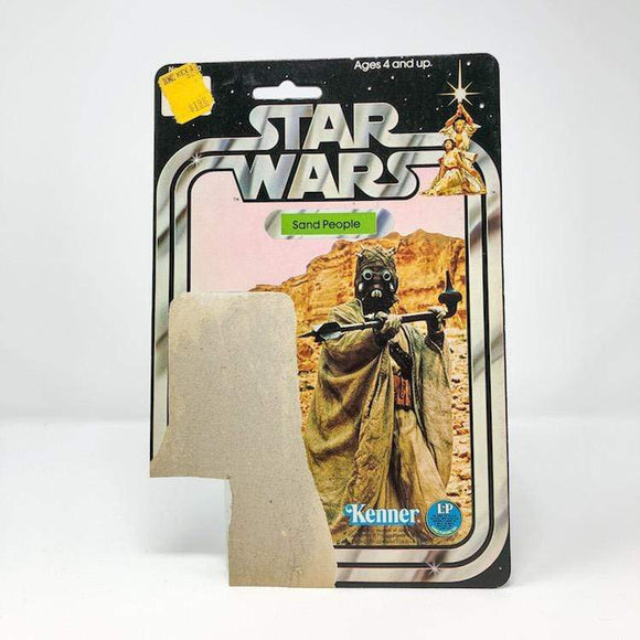 Vintage Kenner Canada Star Wars Cardback Sand People (Tusken Raider) Star Wars 12-back Cardback