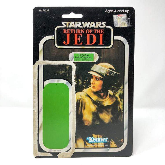 Vintage Kenner Star Wars Cardback Leia in Combat Ponch ROTJ Cardback (77-back)