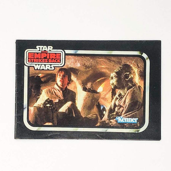 Vintage Kenner Star Wars Paper Empire Strikes Back Yoda w/ Logo Back Mini-Catalog (1980)